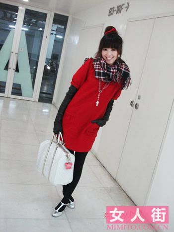 红色衣服搭配